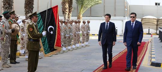 Libia conte ruolo italia facilitatore per processo pacificazione