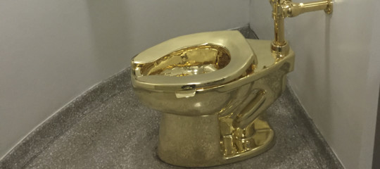 Lo strano caso del gabinetto doro di cattelan scomparso da un museo