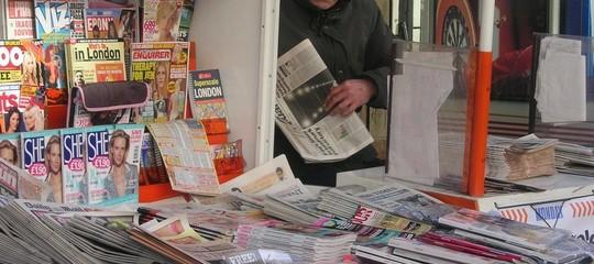 I titoli di apertura dei giornali